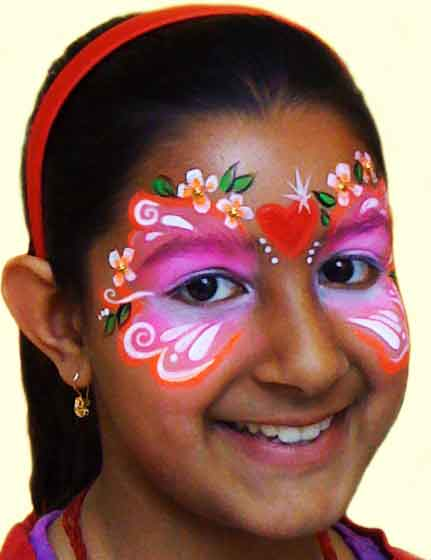 Face-Paint-KIDS_Fairy-mask-butterfly-indian-girl