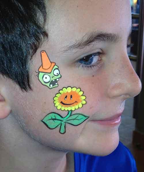 Face-Paint-KIDS_Plants-VS-Zombies-cheek