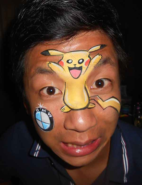 Face-Painting-Adults-Pokemon-BMW