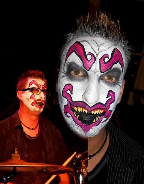 Face-painting-Adult-drummer-collage